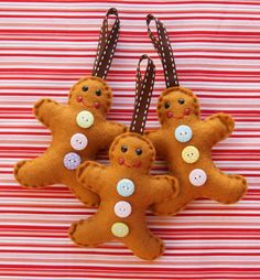 Felted Gingerbread men