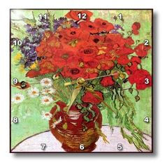 Special Offers - 3dRose dpp_119500_3 Picture of Van Gogh Painting Poppies N Daisies Wall Clock 15 by 15-Inch - In stock & Free Shipping. You can save more money! Check It (August 25 2016 at 06:09AM) >> http://wallclockusa.net/3drose-dpp_119500_3-picture-of-van-gogh-painting-poppies-n-daisies-wall-clock-15-by-15-inch/