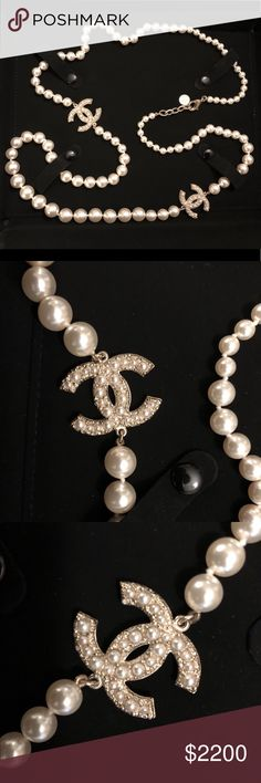 Chanel Pearl CC Long Necklace A stunning Long pearl necklace with two CC from Chanel 2015 collection.  It can be worn as a long draping strand or double strand. It exhibits elegance and will add sophistication to your look. This is just too classic and will never go out of style. This piece is SOLD OUT and hard to find.     Will be delivered to you in Chanel velvet pouch and a box as shown in the photo.    Guaranteed authenticity as always. Please do not hesitate to contact me with any…