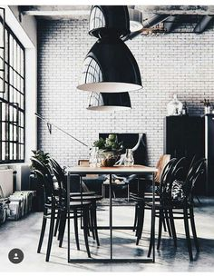 33 Stunning Dining Room Design Ideas That Mix Classic And Ultra Modern Decor - About-Ruth Industrial Interior Design, Industrial House, Industrial Stairs, Industrial Shelving, Industrial Style, Industrial Restaurant, Industrial Apartment, Urban Industrial, Industrial Bedroom
