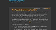 Blog about Tourette Syndrome