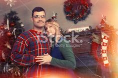 Creepy Retro 70's Couples Christmas Photo © Dieter Spears   Do Not Use Without A License