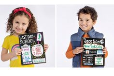 Check out these fun new photo memory cards the preserving the last day of school and other important milestones.