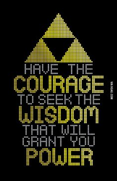 Nothing to see here, just a motivational quote from legend of zelda