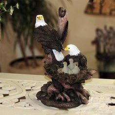 Patriotic American Bald Eagle Family Statue in Rustic Home Decor Sculptures and #HomenGifts