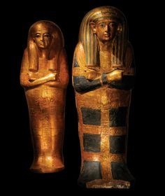 The young king Tutankhamen was sent into the afterlife accompanied by his two tiny  daughters.