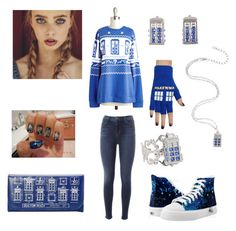 """""""A Whovian Christmas"""" by lover-of-doctor-who ❤ liked on Polyvore featuring J Brand, Disney, women's clothing, women, female, woman, misses and juniors"""