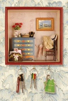 how to: room box with key hangers (just box, not contents)