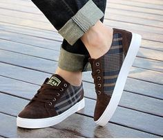 69157cccff 2014 Hot Sale Men s Spring Autumn Suede Canvas Patchwork Sneakers Brand  Designer Gingham Flats Men Sports Shoes Free shipping  34.25