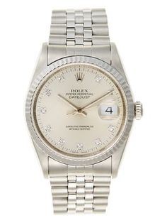 Rolex Stainless Steel & Diamond Datejust Unisex  Watch, 36mm. Get the lowest price on Rolex Stainless Steel & Diamond Datejust Unisex  Watch, 36mm and other fabulous designer clothing and accessories! Shop Tradesy now