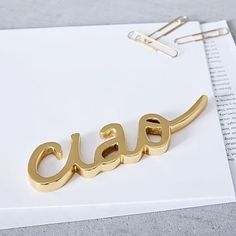 Brass Word Object - Ciao