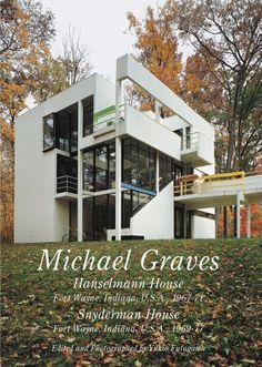 Michael Graves : Hanselmann house, Fort Wayne,Indiana,USA,1967-71 . Snyderman house, Fort Wayne, Indiana,USA,1969-77 / text by Julie Hanselmann Davies ; Edited and photographed by Yukio Futagawa. Signatura: 72 Graves GRE Na biblioteca: http://kmelot.biblioteca.udc.es/record=b1529378~S1*gag