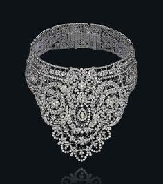 A diamond bib choker necklace Christies Jewels