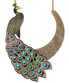 Peacock Statement Necklace £225 - AW17 She Put A Spell On You