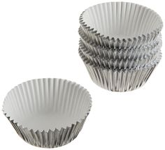 Wilton Silver Foil Baking Cups, Mini, 80-Count >> Find out more details by clicking the image : Baking Tools and Accessories