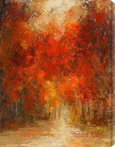 using impressionism for warm colors and a fall landscape