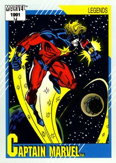 Marvel Universe Series 2 #139 Captain Marvel (1991) Nightcrawler Marvel, Iceman Marvel, Punisher Marvel, Marvel Comic Books, Marvel Characters, Comic Books Art, Comic Art, Captain America Comic, Captain Marvel