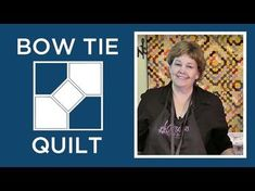 Jenny Doan demonstrates how to make the beautiful Bow Tie Quilt Block. Solid and Essentials Charm Packs. Jenny Doan Tutorials, Msqc Tutorials, Quilting Tutorials, Quilt Blocks Easy, Easy Quilts, Star Quilts, Tie Quilt, Patch Quilt, Missouri Quilt Tutorials