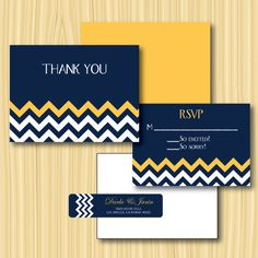 Wedding Invitation Set Chevron. Would be cute in a different color!