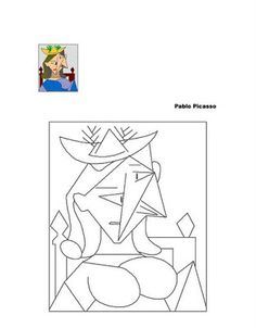 Teaching & learning resources for parents, children and teachers. Pablo Picasso, Kunst Picasso, Picasso Art, Picasso Drawing, Picasso Style, Spanish Art, Paul Klee, Art Plastique, Colouring Pages