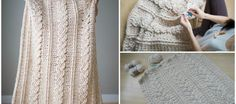 Crochet Chunky Braided Cabled Blanket