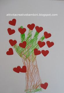 Attività Creative Per Bambini: Albero di cuori