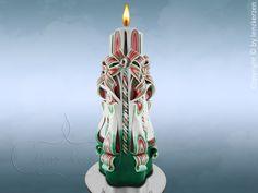 Geschnitzte Kerze ( ca.20 cm.) Unikat. von Lenz  Kerzen auf DaWanda.com