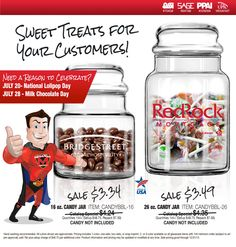 #CandyJars make terrific #PartyFavors! Showw off your company #brand at your next business #event or Party