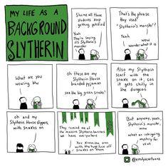Kids as a background Slytherin.