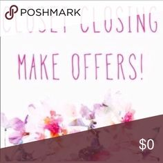 🔥Closet Closing🔥Make Offers🔥 🔥Closet Closing🔥Make Offers🔥- I just wanted to say thank you to all who has shopped my closet and shared my listings!! I am closing my Posh account soon as I am in school for my Psych major and need to devote my time to my studies and my family. Closing down my closet in a week! Free People Tops