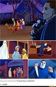 Scooby Doo Meets The Boogeyman! Horror Cartoon, Funny Horror, Cartoon Shows, Cartoon Pics, Scooby Doo 1969, Scooby Doo Memes, New Scooby Doo, Scary Movies, Horror Movies