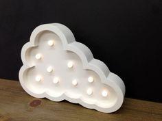 lampara infantil, cuarto del bebe, nube led nordico vintage