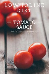 Gluten free and healthy tomato sauce - low iodine diet friendly from theprofessionalmomproject.com