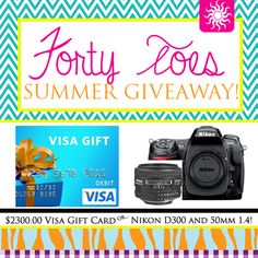 Special Summer GIVEAWAY from Forty Toes Photography!