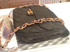 Chanel bag cake....delicious