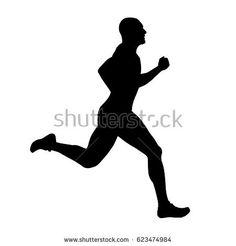 Runner vector silhouette, side view. Sprinting athlete Small Tattoo Designs, Small Tattoos, Runner Tattoo, Running Silhouette, Vinyl Cutter, Triathlon, Laser Cutting, Open House, Watercolor Art