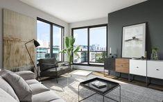 Vue sur le Centre-Ville à partir d'une unité de MYX condos Condo Interior Design, Condominium, Windows, Architecture, Furniture, Centre, Jackson, Home Decor, Google Search