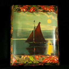 Music Box, Victorian Photo Album w/ 26 Photos, Celluloid Cover - Antique - WORKS