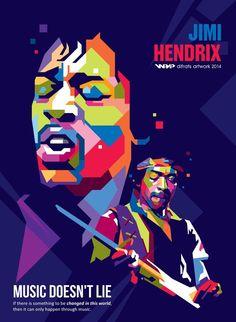 Jimi Hendrix Arte Pop, Rock Posters, Concert Posters, Music Artwork, Art Music, World Music, Music Is Life, Illustration Pop Art, Pop Art Poster
