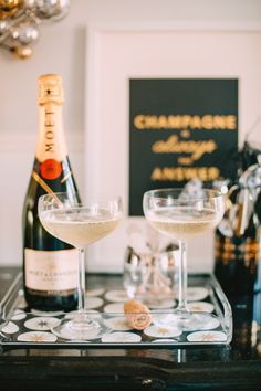 New Year's Eve Bubbly Bar:: Champagne is always the answer:: New Years Eve