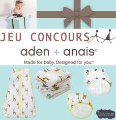 Jeu concours Aden+Anais jusqu'au 30.04.2014 ... Tentez votre chance sans plus tarder !  3 questions pour un magnifique lot : http://chambre-bebe.com/jeu-concours-aden-anais/
