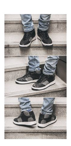 Republic of Korea Men # 1 Store Browse Key [Lear's Casual Shoes and detailed design !! 5cm key to the height effect !!]