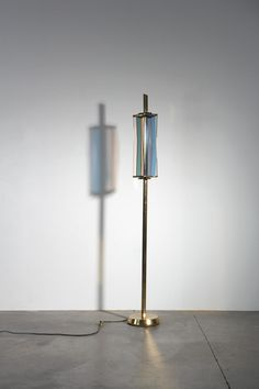 Max Ingrand; Brass and Glass Floor Lamp for Fontana Arte, c1954.