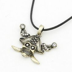 Caribbean Pirates Pendant Necklace