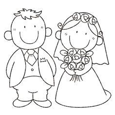 Dibujos. Clipart. Digi stamps - Wedding - Novios - Boda
