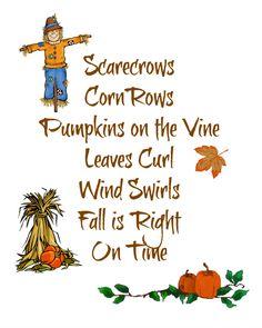 scarecrows free printable