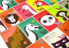 previous designs done for the v+a, use of bright colours