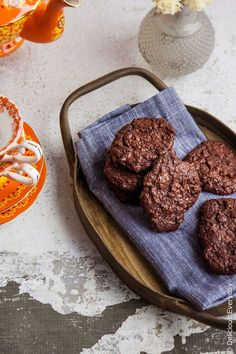 Orange Scented Double Chocolate Chip Cookies - these gluten free and dairy free cookies are easy to whip together and are absolutely addictive | #orange #chocolatechip DeliciousEveryday.com