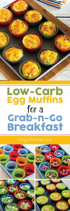 Low-Carb Egg Muffins for a Grab-and-Go Breakfast found on KalynsKitchen.com