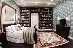 A Bedroom for those who love to cozzy up to a great book before bed.  Designed for Extreme Makeover: Home Edition by AAA Homes of MS, LLC.